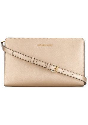 Michael Michael Kors Jet Set cross body clutch - Metallic