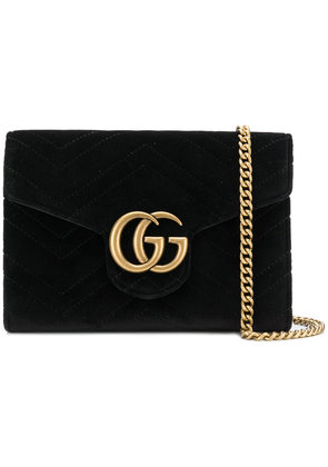 Gucci GG Marmont chain wallet - Black