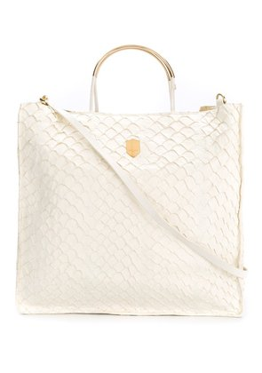 Osklen leather tote bag - Nude & Neutrals