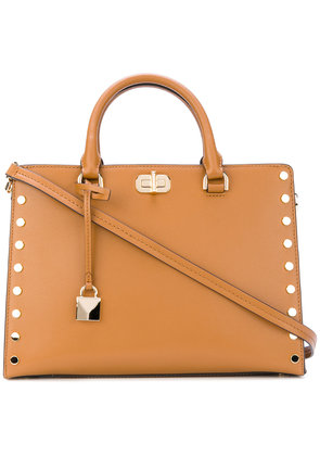 Michael Michael Kors large Sylvie studded satchel - Brown