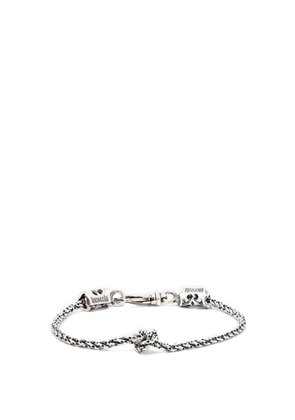 Knotted chain sterling silver bracelet