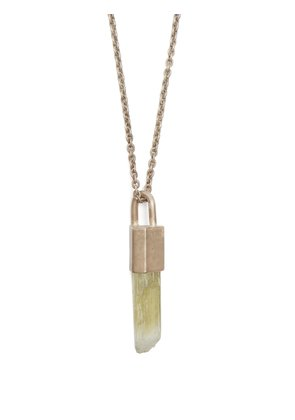 Talisman hiddenite pendant & silver necklace
