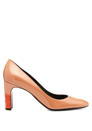 Isabella 80 patent-leather pumps
