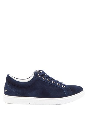 Cash low-top suede trainers