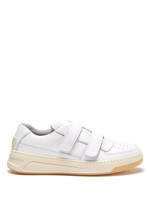 Steffey low-top leather trainers