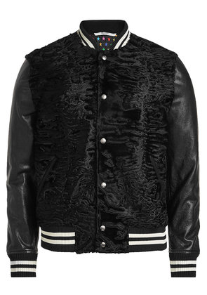 Valentino Leather and Astrakhan Blouson