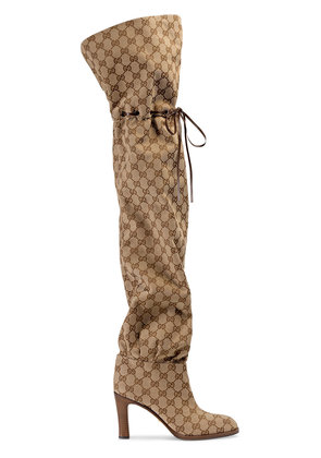Gucci Original GG canvas over-the-knee boot - Nude & Neutrals
