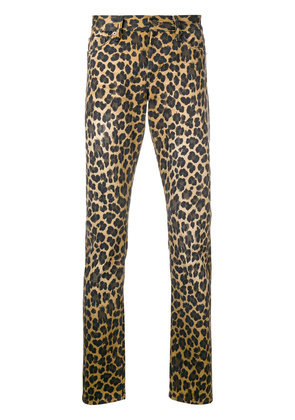 Tom Ford leopard print skinny jeans - Brown