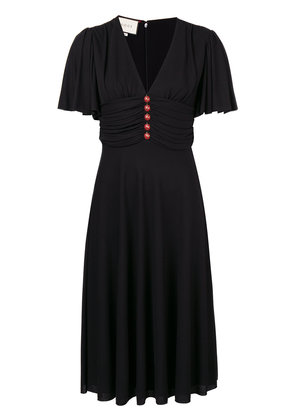Gucci ladybug buttons flared dress - Black