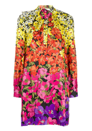 Gucci floral-print bow dress - Yellow & Orange