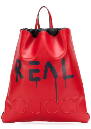 Gucci GucciGhost drawstring backpack - Red