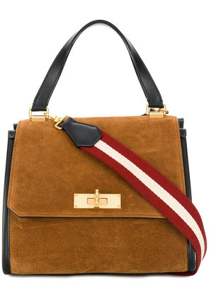 Bally sqaure shaped crossbody bag - Brown