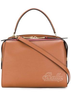 Bally embroided logo crossbody bag - Brown