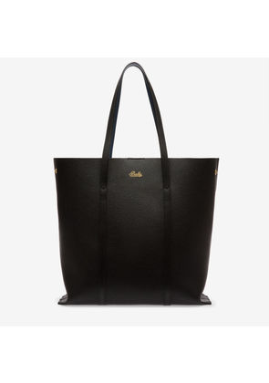 Bally Rodeo Black, Women's split bovine leather tote bag in black and cobalt