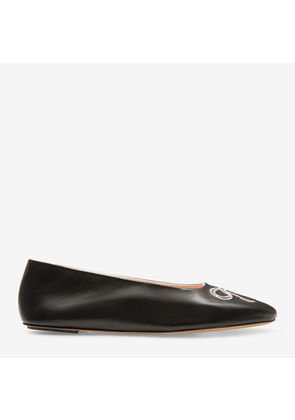 Bally Ballyrina Black, Women's lamb leather ballerina flats in black