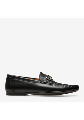 Bally Deon Black, Men's plain calf leather moccasin in black