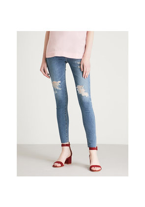 Mila Ankle Raw skinny high-rise jeans