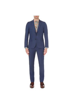Paul Smith Mens Light Blue Buttoned Modern Suit, Size: 38R