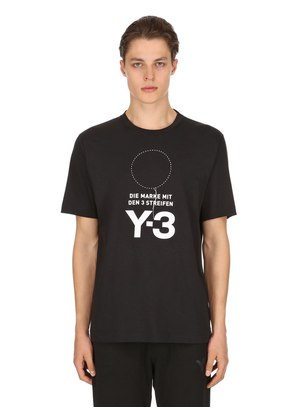 STACKED LOGO COTTON JERSEY T-SHIRT