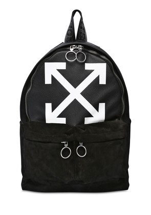 ARROWS SUEDE & LEATHER BACKPACK