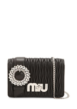 MED MY MIU BUCKLE QUILTED LEATHER BAG