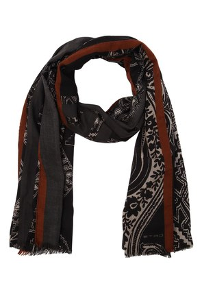 PAISLEY WOOL BLEND SCARF