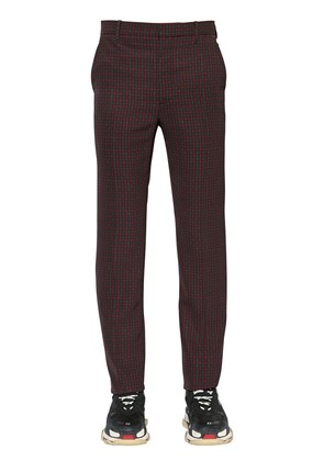 19CM TECH TWILL CHECK TROUSERS