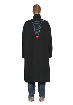 EMBROIDERED COTTON PARKA