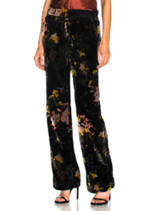 MOTHER Quickie Greaser Ankle Pant in Abstract,Black,Floral