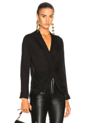 L'AGENCE Mariposa Top in Black