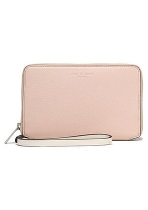 Rag & Bone Woman Leather Phone Case Pastel Pink Size -