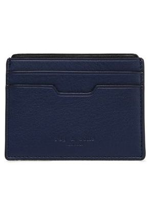 Rag & Bone Woman Leather Cardholder Navy Size -