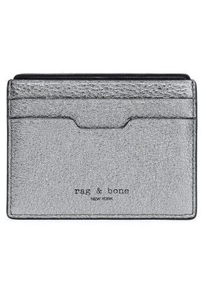 Rag & Bone Woman Metallic Leather Card Case Metallic Size -