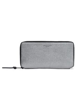 Rag & Bone Woman Metallic Leather Wallet Metallic Size -