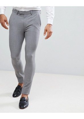 ASOS Extreme Super Skinny Smart Trousers in Grey - Grey
