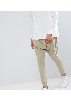 ASOS TALL Lightweight Extreme Drop Crotch Jogger In Stone - Barley