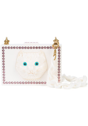 Gucci Cat face box clutch - White