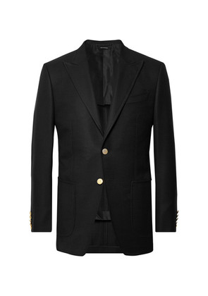 Black O'connor Slim-fit Wool And Mohair-blend Hopsack Blazer
