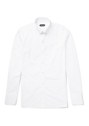 Icon Slim-fit Rounded Bar Collar Cotton-poplin Shirt