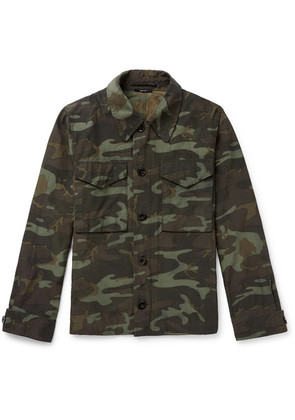 Camouflage-print Canvas Jacket