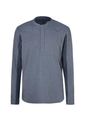 Shield Mélange Stretch-knit Half-zip Golf Jacket