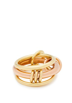 Gemini 18kt gold and rose-gold ring