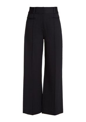 Wide-leg pintucked culottes