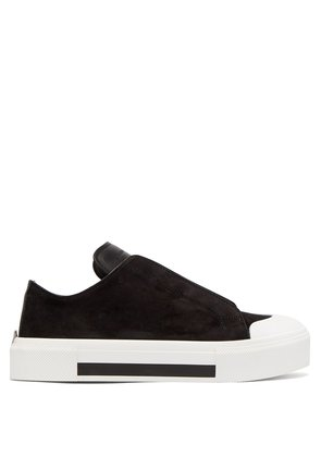 Suede low-top trainers
