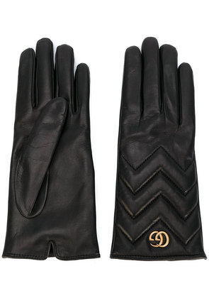 Gucci GG Marmont chevron gloves - Black