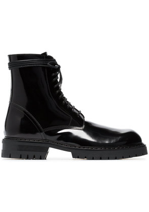 Ann Demeulemeester chunky lace-up boots - Black