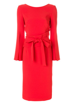 P.A.R.O.S.H. belted midi dress - Red
