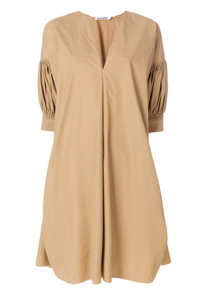 Jil Sander tunic style dress - Brown
