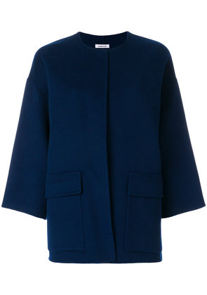 P.A.R.O.S.H. collarless boxy jacket - Blue