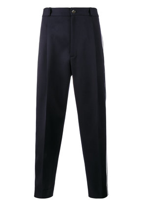 Gucci striped cropped trousers - Blue